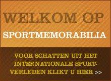 Welkom in de SportMemorabilia webshop.